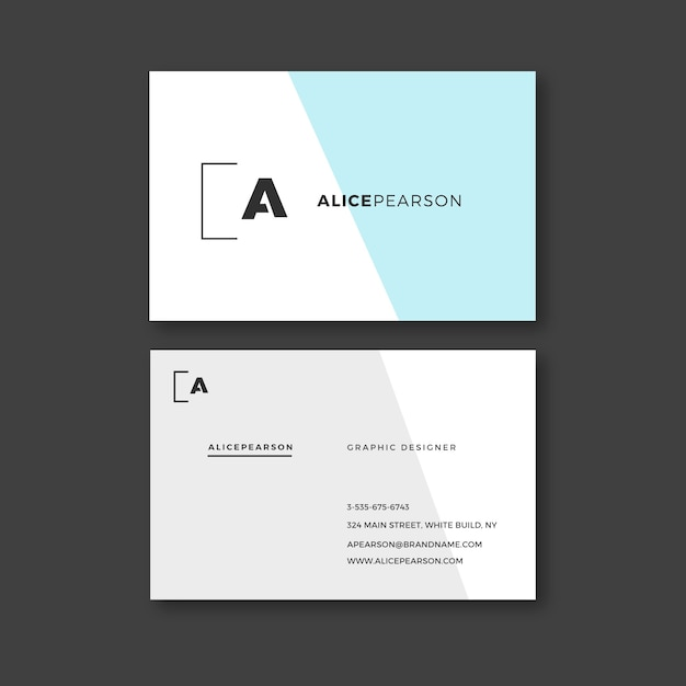 Corporate business card template Free Vector