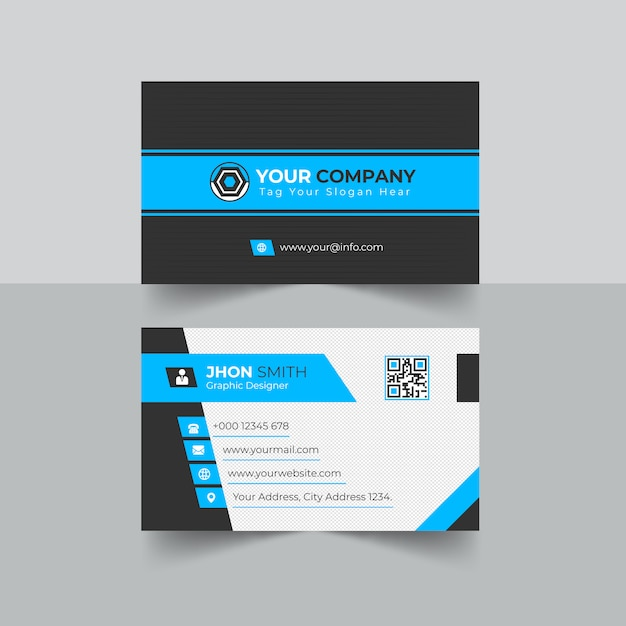 Corporate business card Premium Vector