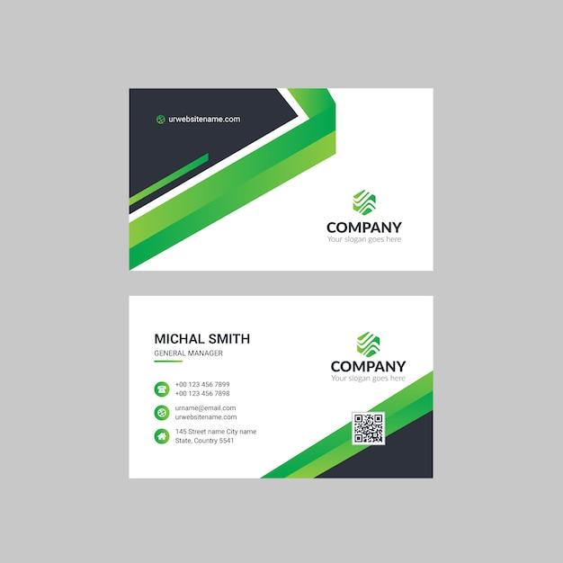 Corporate business card Premium Vector