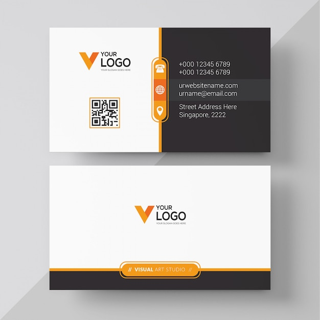 Corporate business card Free Vector