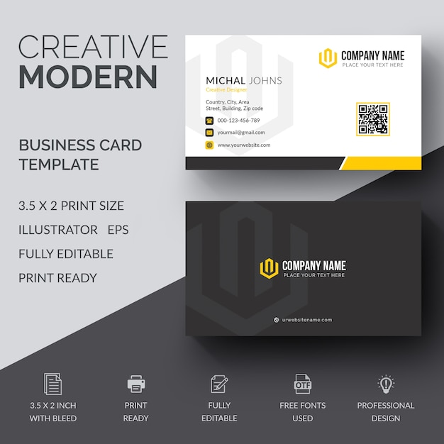 Corporate business card vector premium download corporate business card premium vector reheart Image collections