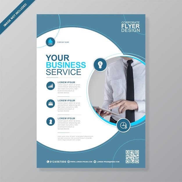 Обложка корпоративного бизнеса шаблон оформления флаера a4 Premium векторы
