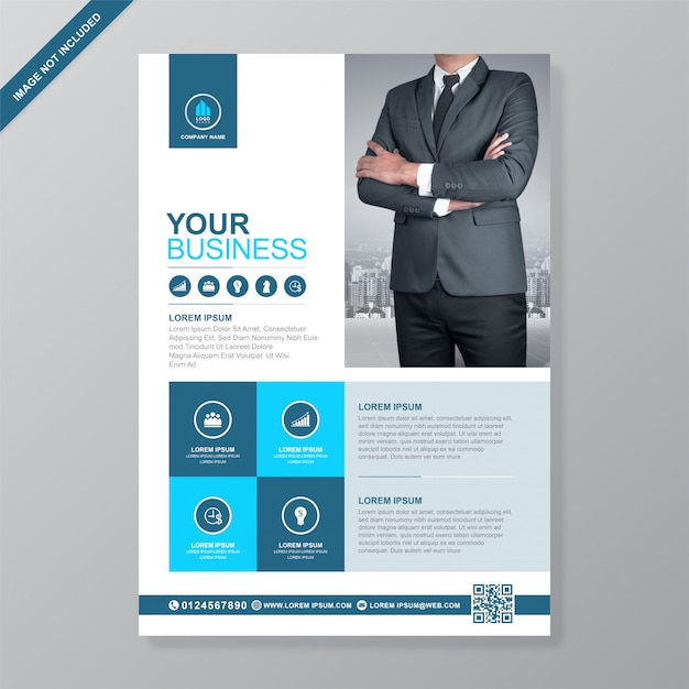 Corporate business cover a4 flyer  template Premium Vector