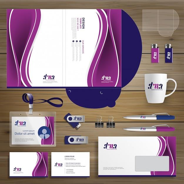 Corporate business design folder template identity Premium Vector