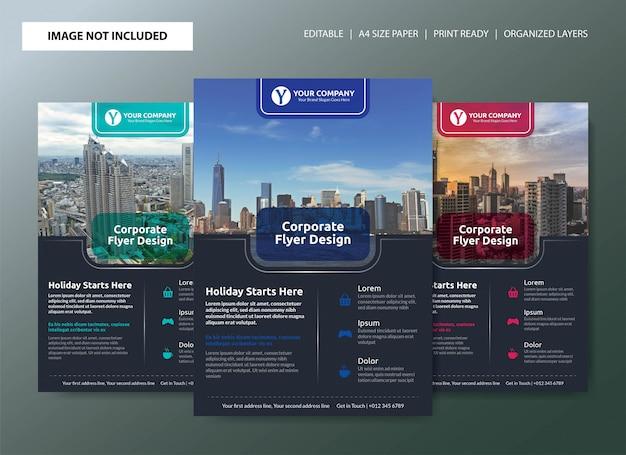 Corporate business flyer poster template design Premium Vector