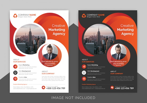 Corporate business flyer poster template with gradient color, brochure cover design layout background Premium Vector