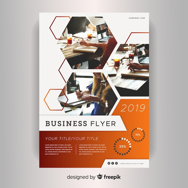 Corporate business flyer template Free Vector