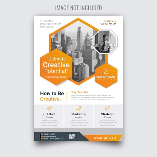 Corporate business flyer Premium Vector