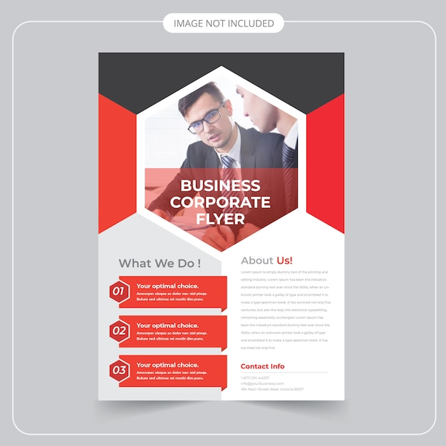 Corporate business flyer Premium Vector