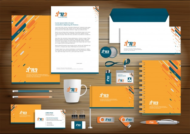 Corporate business identity design template Premium Vector