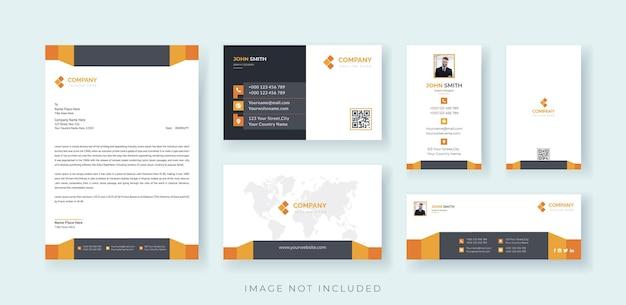 Corporate business identity stationery set premium vector