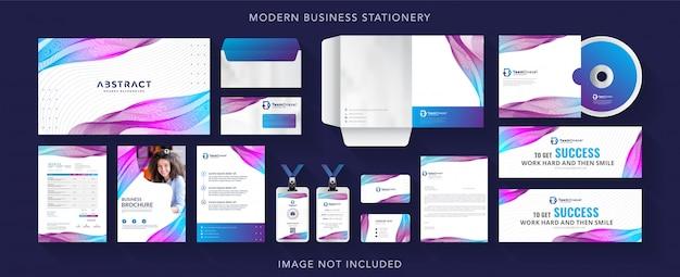 Corporate business identity stationery Premium Vector