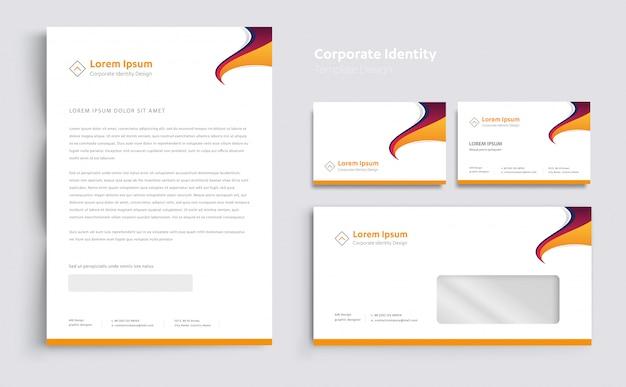 Corporate business identity template design vector Premium Vector