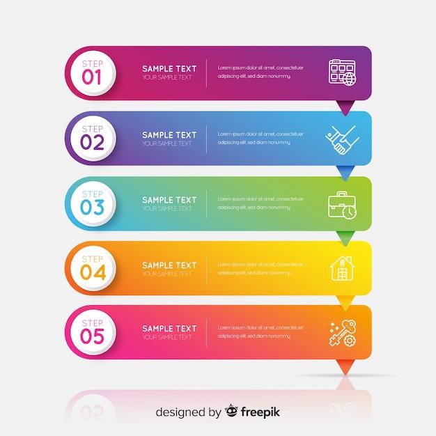 기업 비즈니스 Infographic 템플릿, Infographic 요소 구성 프리미엄 벡터