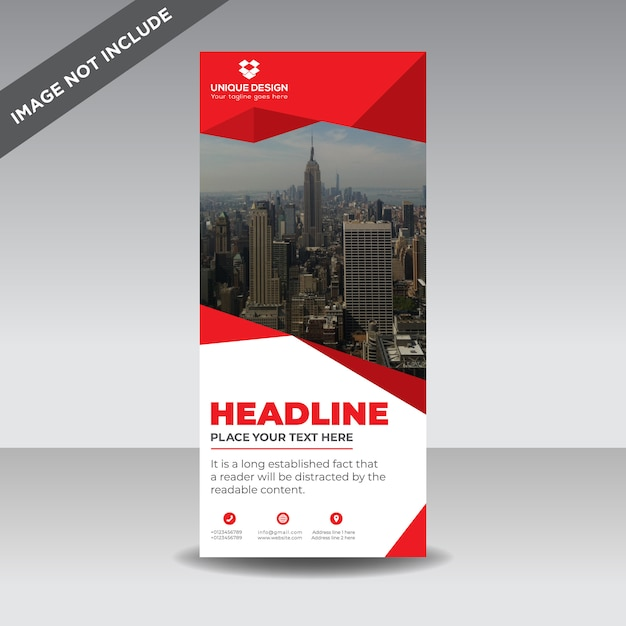 Corporate business roll up banner Premium Vector