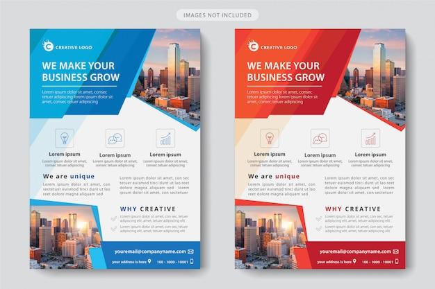 Corporate business template Premium Vector