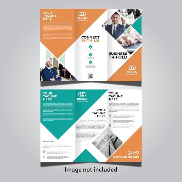 Corporate business trifold template Premium Vector