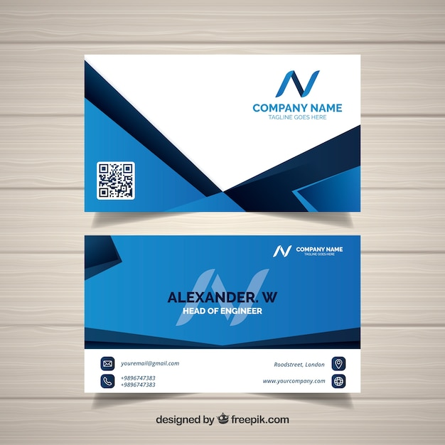 Corporate card in modern style Free Vector