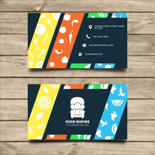 Corporate card for a restaurant Free Vector