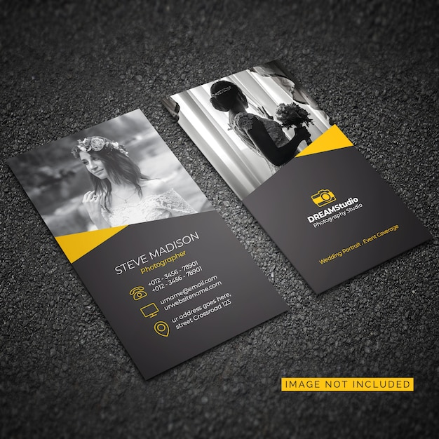 Corporate card template for photography Free Vector
