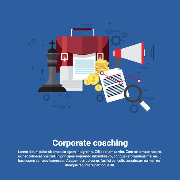 コーポレートコーチングマネジメント事業 Premiumベクター