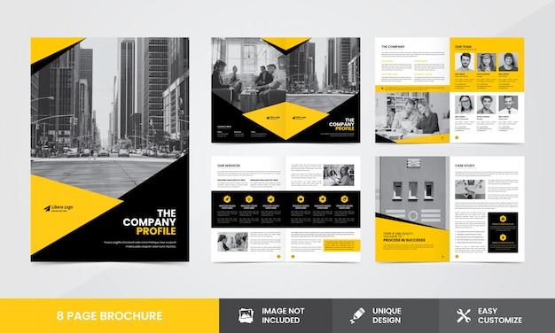 Corporate company brochure template Premium Vector