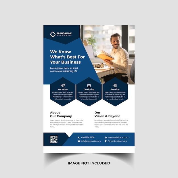 Corporate creative business flyer template Premium Vector
