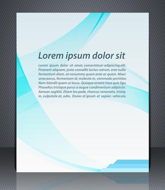 Рекламный шаблон корпоративного дизайна Premium векторы