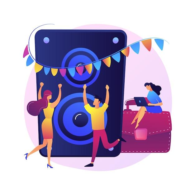 Корпоративное мероприятие. вечеринка для сотрудников и деловых партнеров. люди танцуют, пьют и веселятся. организация мероприятий, развлечения, празднование Бесплатные векторы