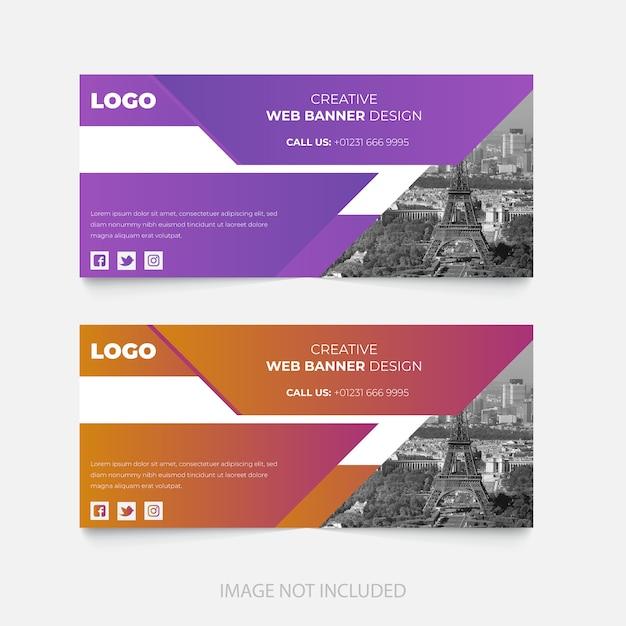 企業のfacebookページの表紙のテンプレートデザイン Premiumベクター