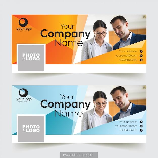 Corporate facebook timeline cover template  Premium Vector
