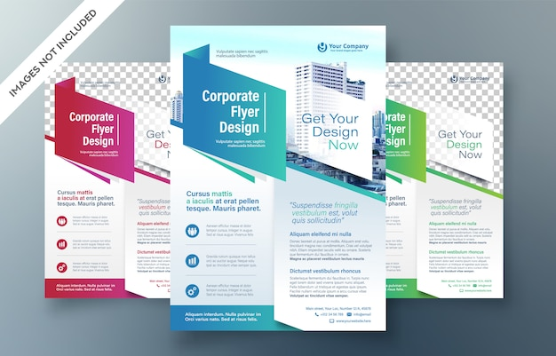 Corporate flyer design template Premium Vector