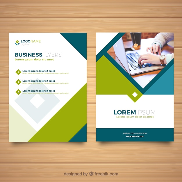 corporate flyer design vector free download