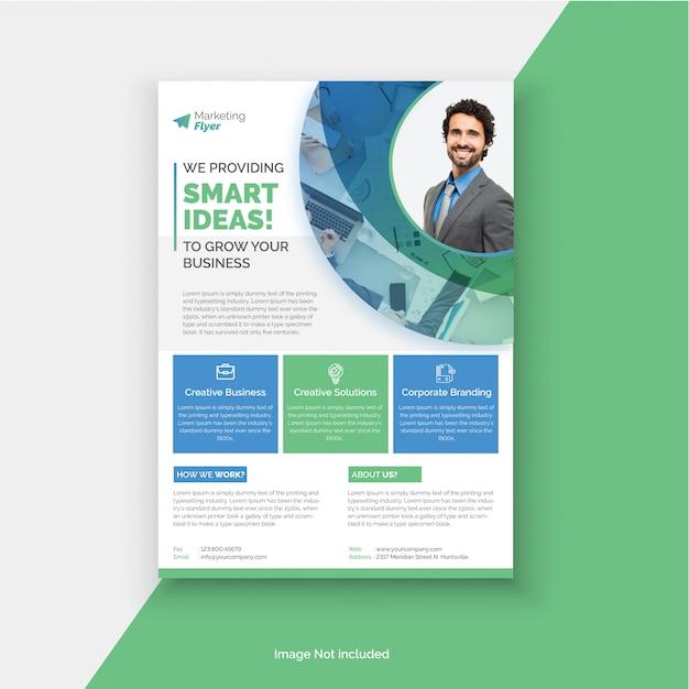 Corporate flyer template Premium Vector