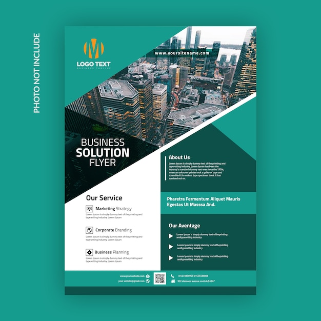 Corporate flyer template Premium Vector