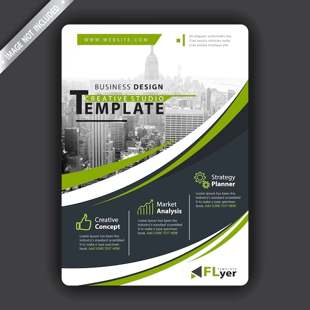 Corporate flyer Free Vector