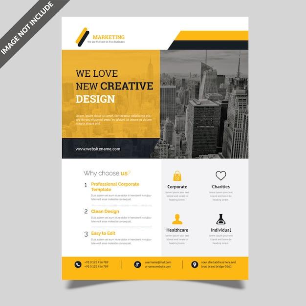 Corporate flyer Premium Vector