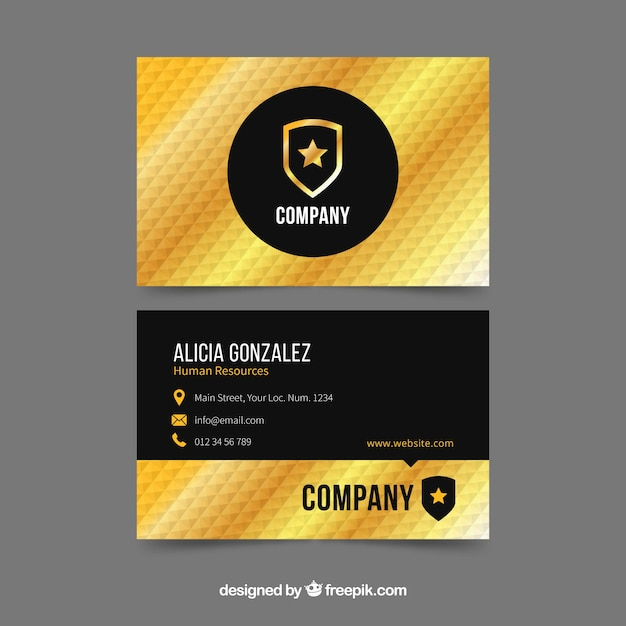 Corporate golden card Free Vector