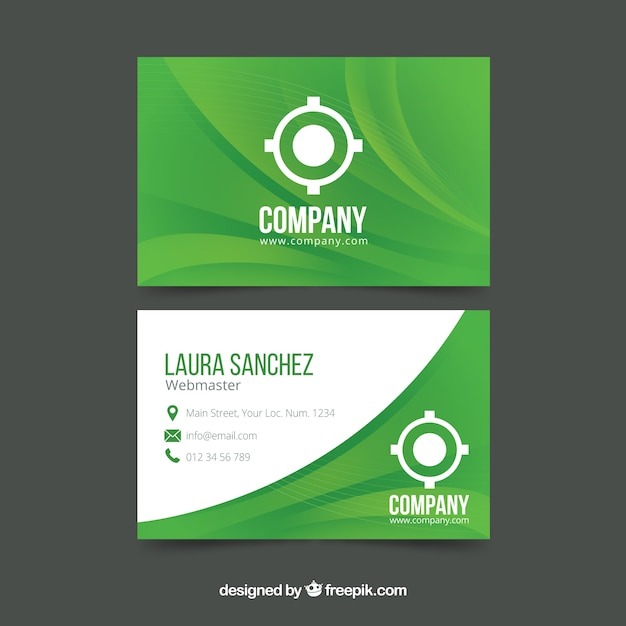 Corporate green card Free Vector