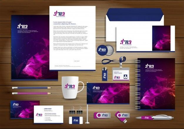 Corporate identity business design Premium Vector