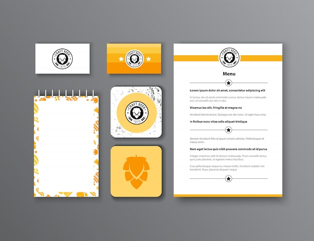 Corporate identity. classic stationery template design. documentation for business. Free Vector