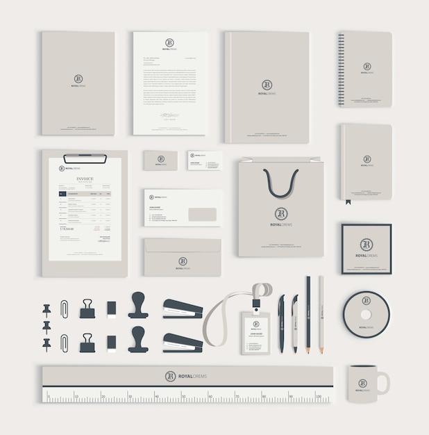 コーポレートアイデンティティデザインテンプレート Premiumベクター