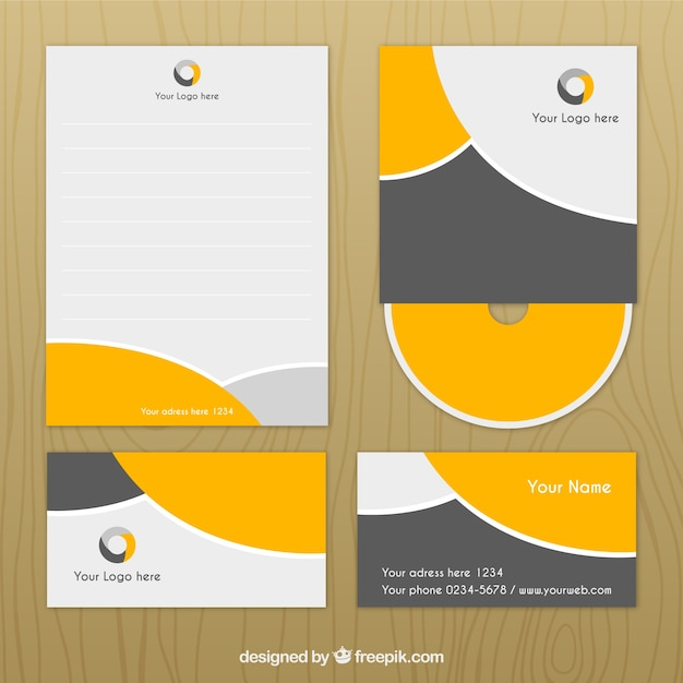 Famoso Corporate identity design Vector | Free Download RM53
