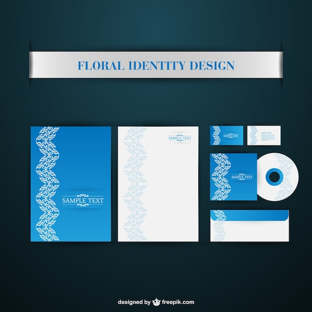 Corporate identity package Free Vector