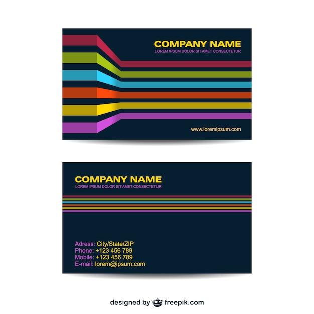 Corporate identity set geometric design