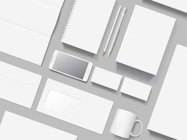 Corporate identity vector mockup Premium Vector
