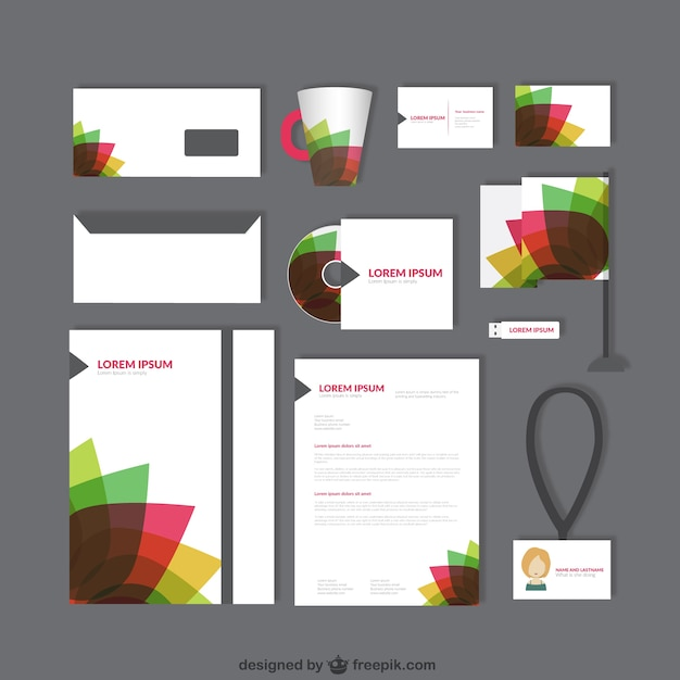 Corporate identity with colorful petals