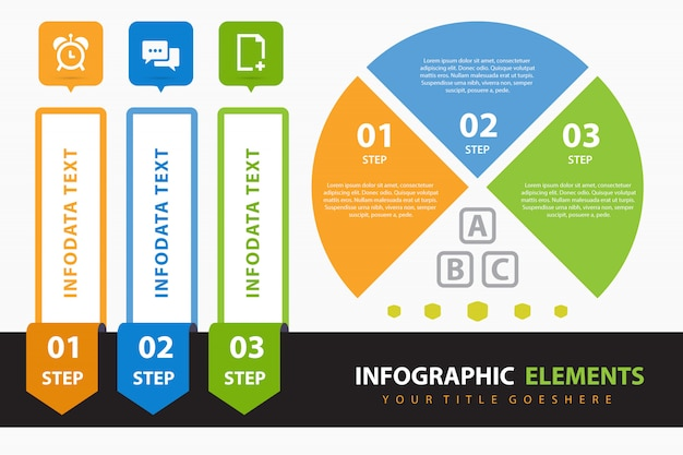 Corporate infographic with elements Free Vector