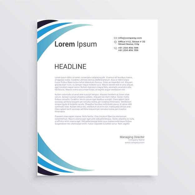 corporate letter head template vector premium download