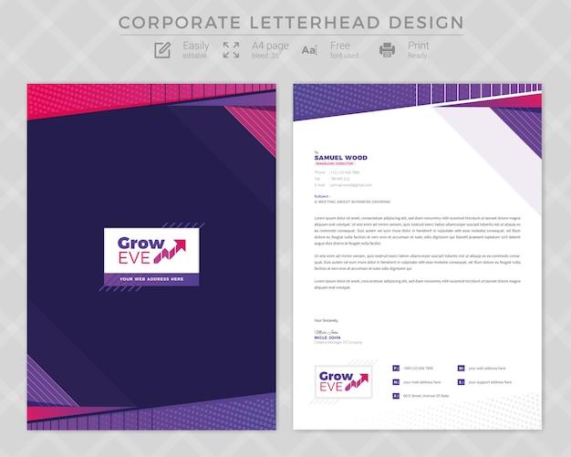 Corporate letterhead design Premium Vector